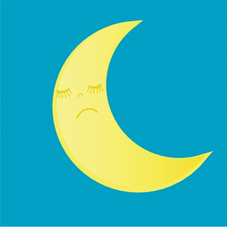 moon icon vector photo