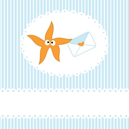 seafish: Starfishe icon vector illustration