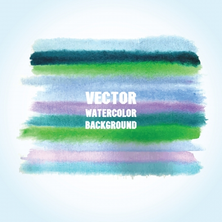 Watercolor vector background with place for your text. Pastel cold blue and violet colors. photo