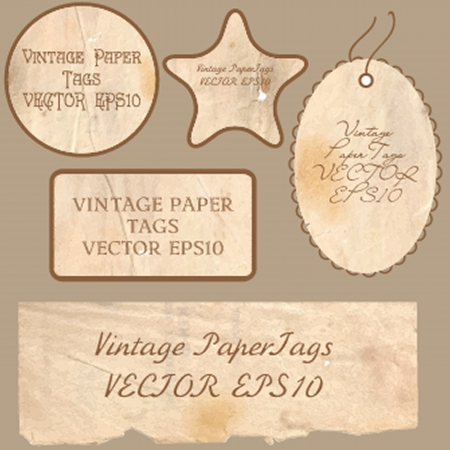 Set of vector vintage cards photo