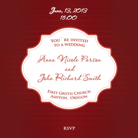 Wedding invitation with floral ornament photo