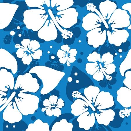 hawaiana: Patr�n sin fisuras con flores de hibisco hawaiano