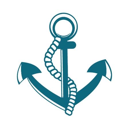 navy pier: Anchor vector illustration