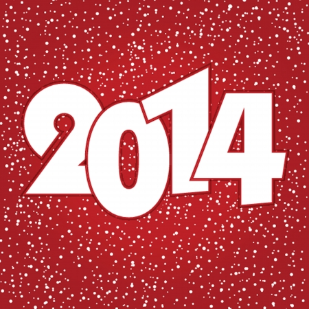 Happy new year 2014 celebration greeting card design. photo