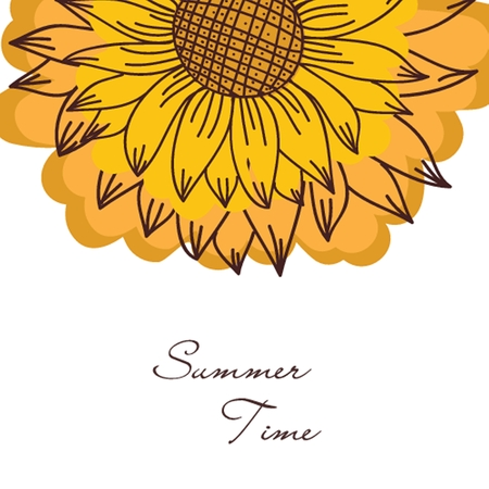 vintage ornament with sunflowers photo