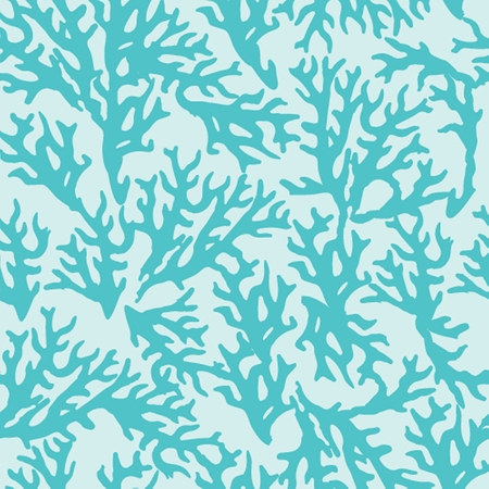 seamless pattern with blue coral. Good for textile, wallpapers, paper for art and craft. Vector