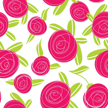 Seamless pattern with abstract rose flowers. Vector illustration. Vector