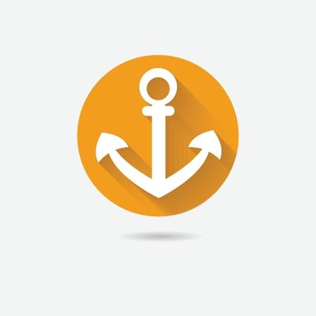 Anchor nautical symbol icon, sea vector illustration. Vector