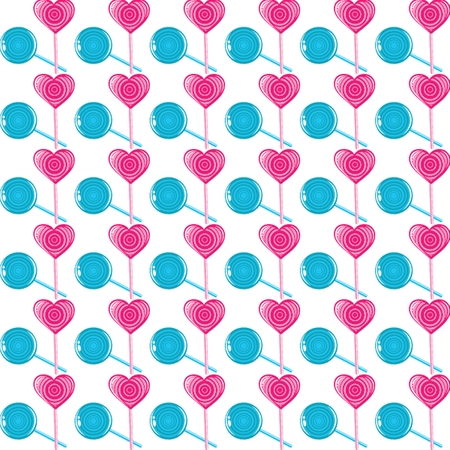 lollipops seamless pattern, valentines day illustration, vector eps 10 Vector