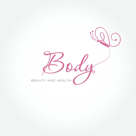 beaut� esthetique: Vector illustration avec le symbole papillon. Logo design. Pour un salon de beaut�, spa, centre de sant�