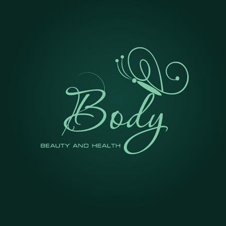 logo vector: Vector illustration with Butterfly symbol. Logo design. For beauty salon, spa center, health clinic