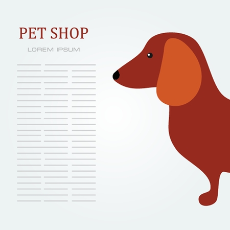 Pet shop Dog standing silhouette vector logo design template. Vector