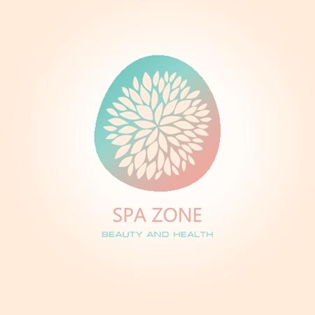 logo medicina: Salón de spa logo signo de la mujer. Concepto de diseño abstracto para el salón de belleza. Vector insignia de la plantilla.
