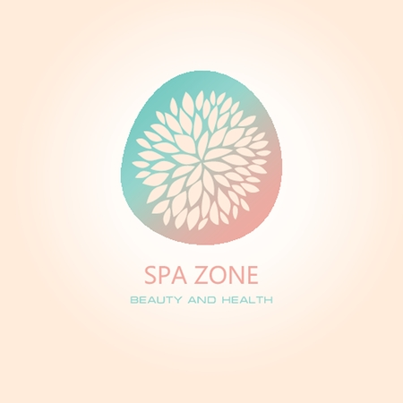 natural beauty: Womans spa salon logo sign. Abstract design concept for beauty salon. Vector logo template.