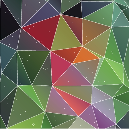 variegated: Bright rainbow vector background from mosaic triangles. Good for web, mobile devices, website and more.