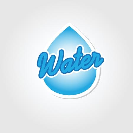 design water drop - vector icon Ilustração