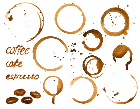 water stain: coffee house menu or list design .
