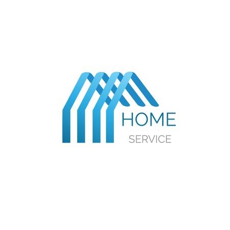logo batiment: Vector maison logo pour votre entreprise. Godd pour le service de la maison, nettoyage, inshurance et autres buisiness