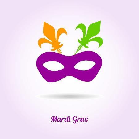 orleans symbol: Mardi gras mask. Vector card or invitation design.