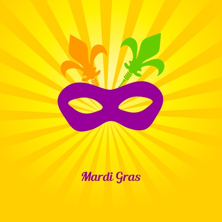 mardi gras mask: Mardi gras mask. Vector card or invitation design.