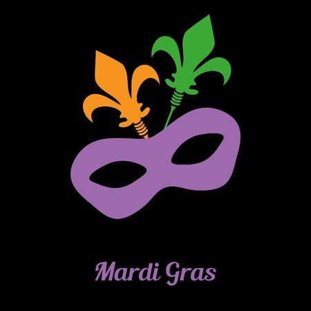 Mardi gras mask. Vector card or invitation design. Vector