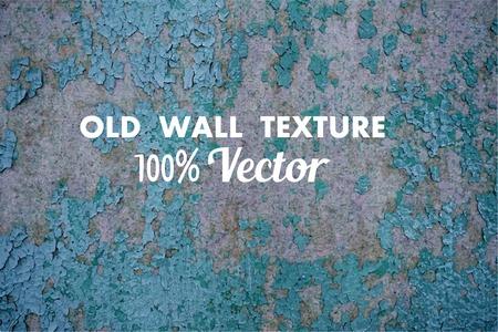 mur grunge: Grunge wall texture vecteur. Vintage texture. Gris mur du fond. Peinture bleue sur le mur gris. Illustration