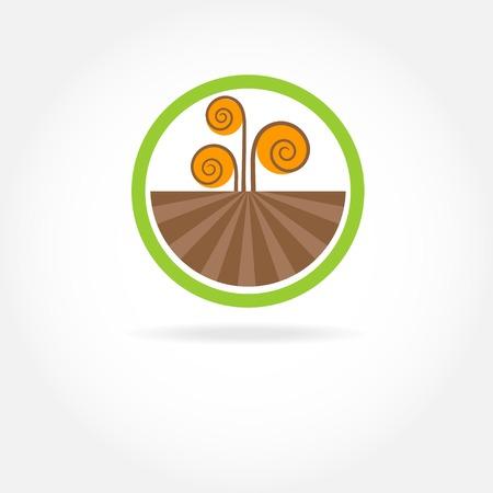 saludable logo: Verde de la naturaleza sana logo agr�cola