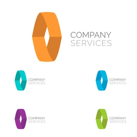 cocao: Letter O logo design template elements in different bright colors