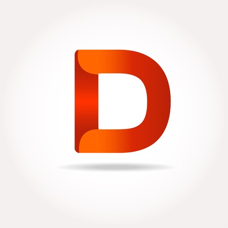 d: Letter D logo design template elements in different bright colors