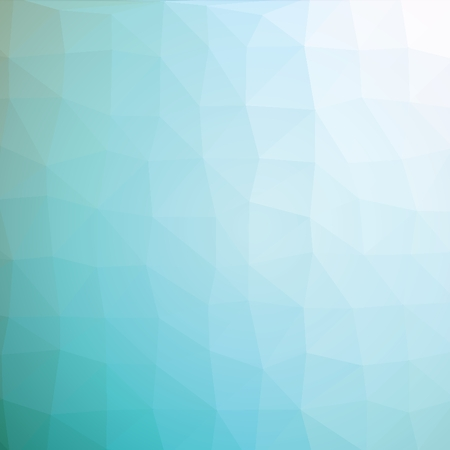 turquise: Geometric abstract light turquise low-poly paper background.