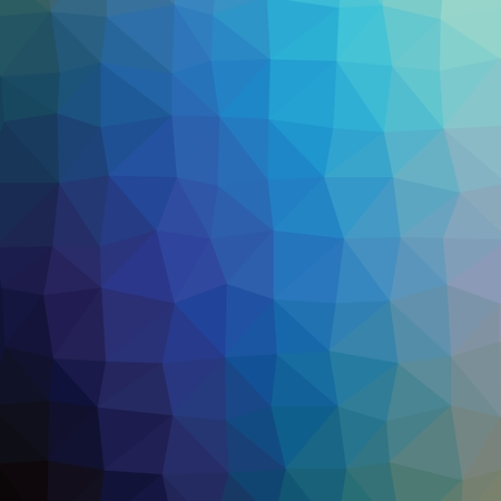 turquise: Geometric abstract navy light turquise low-poly paper background.