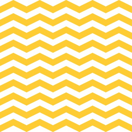 Seamless  ZigZag Chevron Pattern. Yellow and white vector background