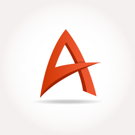 buisiness: Letter A. Abstract template
