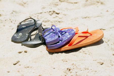 Flip-flop on a beautiful beach. India Goa photo