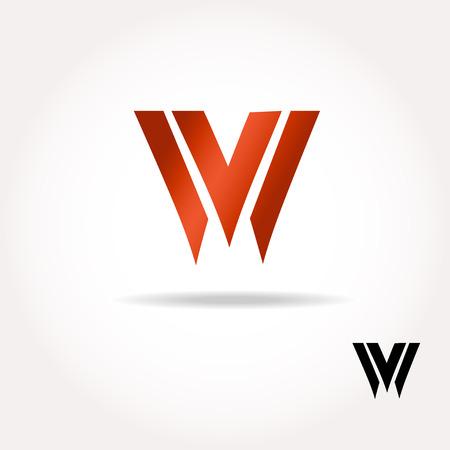 letter w: W letter bright colors  logo  - Vector Illustration, easy editable for your design. Business Logo Illustration