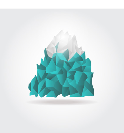 Iceberg icon on white background. Vector mountain logo sign Vector