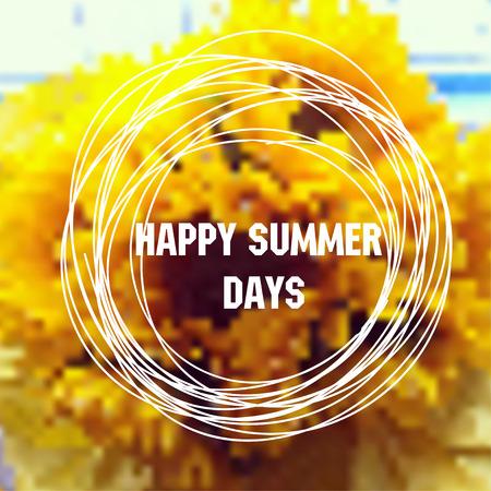 sun flower: Sunflower background. Vector sun flower  design
