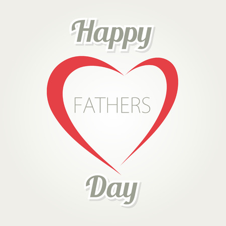 father  s day: Happy Father s Day. Vector card with heart and text on white background