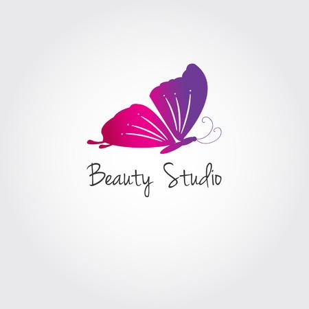 Vlinder. Vector design concept voor schoonheidssalon of studio. Vector logo template.