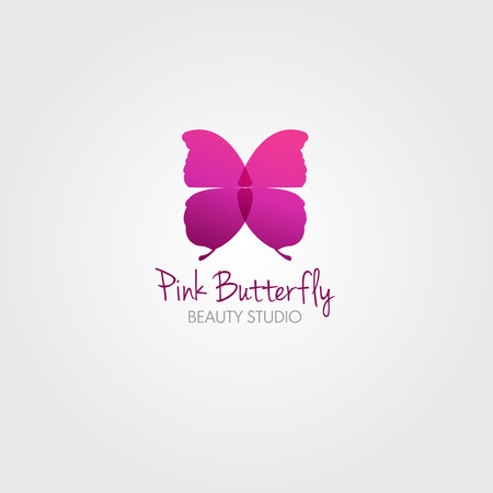 femme papillon: Papillon. Vecteur concept design pour salon de beaut� ou en studio. Vector logo mod�le. Illustration