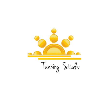 tanning: Tanning studio logo concept Vector illustration. Illustration