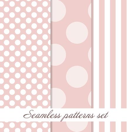 glowing skin: Set Seamless polka dot beauty pattern