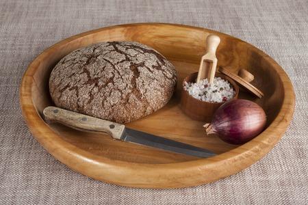 durum: Fresh homemade bread made from durum wheat Stock Photo