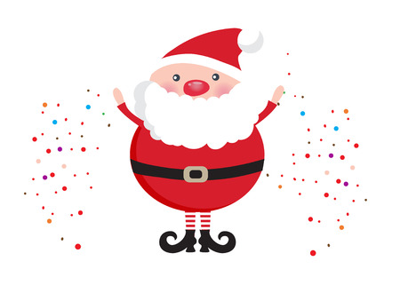 santa claus face: Cute Santa Claus face icon on dark brown background. Christmas card