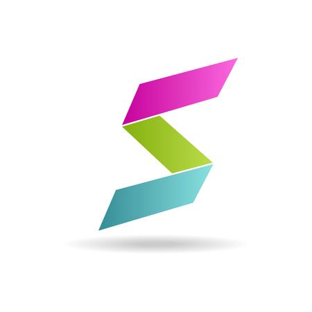 lettre s: lettre S couleurs bleu logo - illustration vectorielle, modifiable facile pour votre conception. logo couleurs vert rose, bleu et de lettre sur fond blanc
