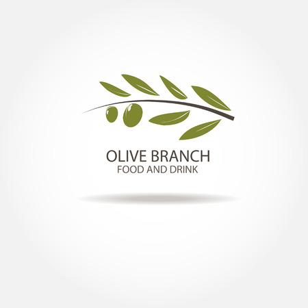 extra virgin: Olive Branch Logo design vector template. Agriculture Farm Olive oil Restaurant Logotype concept icon Illustration