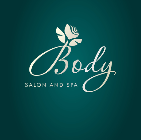 salon spa: Vector illustration with abstract flower symbol. Logo design.  For beauty salon, spa center, health clinic or flower shop.