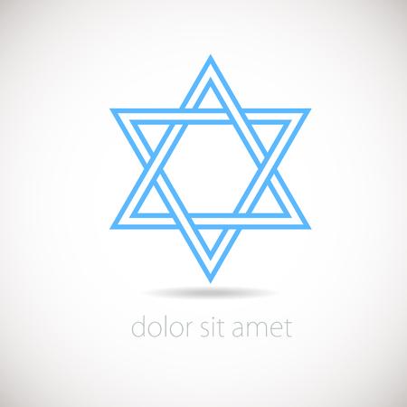 judaic: Star of David concept. Vector illustration, Israel.