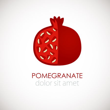 Pomegranate concept for fruit shop, beauty company, restaurant or other business.