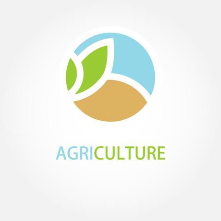 Vector sign Organic farming Greengrocer. 일러스트